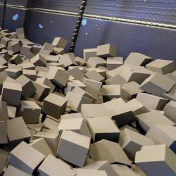 Cubes de mousse résistant feu