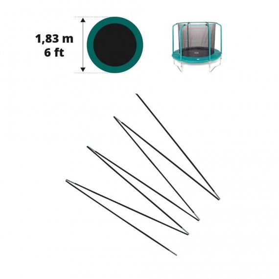 Fiberglass rods for 6ft. Oxygen trampoline net Ø 183