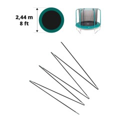 Arc en fibre de verre pour filet Oxygen Ø 244