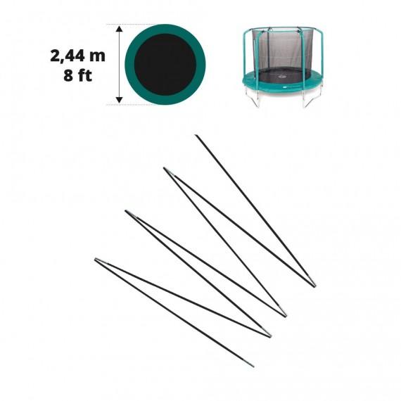 Fiberglass rods for 8ft. Oxygen net 244cm