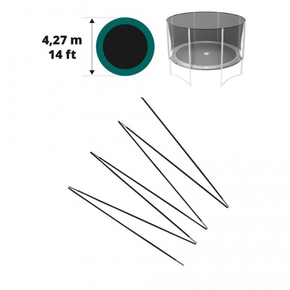 Fiberglass rods for your 14ft. Jump'Up or Booster trampoline Ø 427