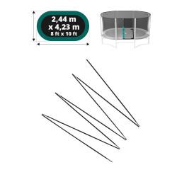Fiberglass rods for 14ft. Ovalie 430