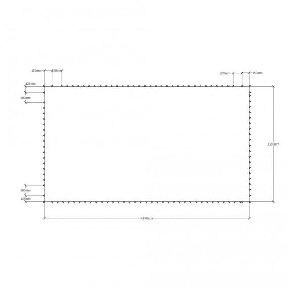 Toile de saut trampoline MT392 – 4240 x 2380 mm