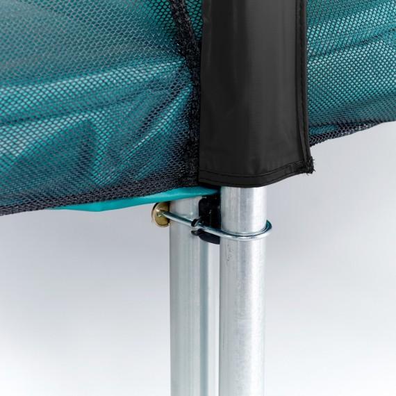 Maxi Pack Trampoline Apollo Sport 300 avec filet + Échelle + Kit d'ancrage + Housse