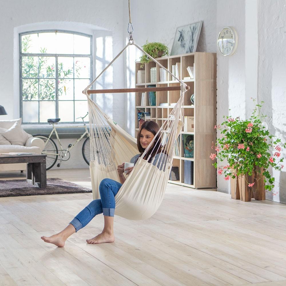 chaise hamac une personne en coton biologique. Black Bedroom Furniture Sets. Home Design Ideas