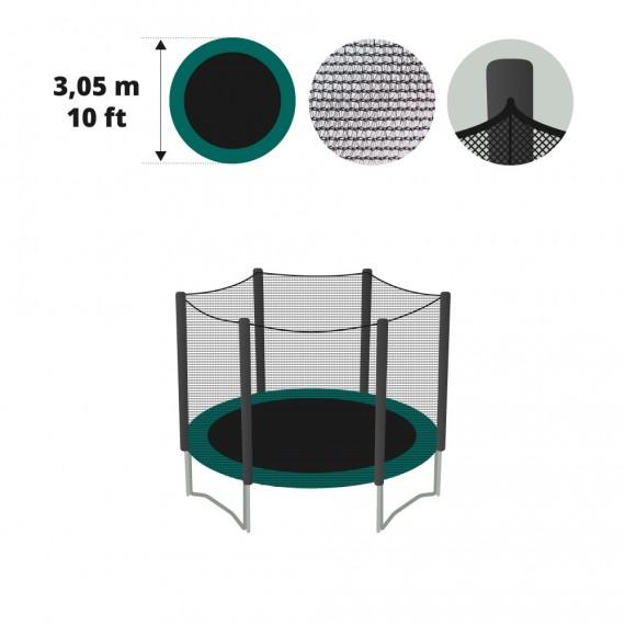 Filet textile pour trampoline Ø 305 avec gaines