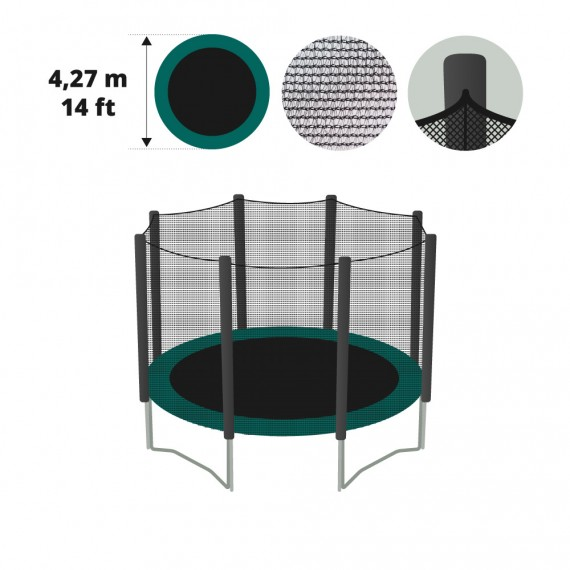 14ft trampoline net with straps