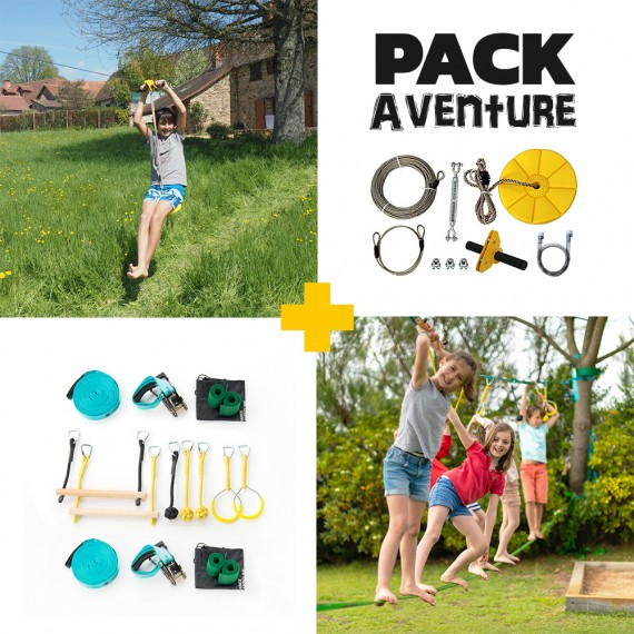 Pack Aventure - Tyrolienne Indiana 28m + Parcours Ninja