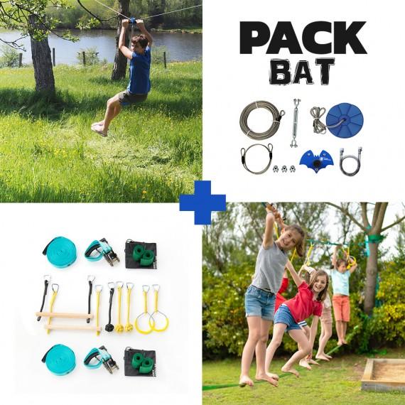 Pack Bat - Tyrolienne Bat + Parcours Ninja