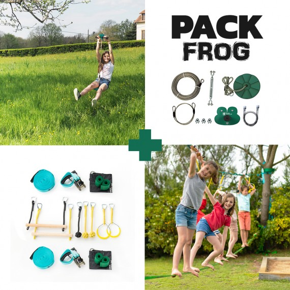 Pack Frog - Tyrolienne Frog + Parcours Ninja