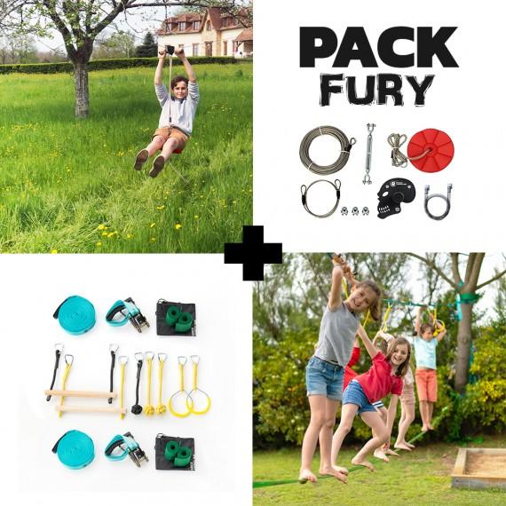 Pack Fury - Tyrolienne Fury + Parcours Ninja