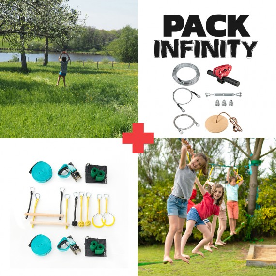 Pack Infinity - Tyrolienne Infinity XL + Parcours Ninja