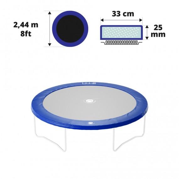8ft blue frame pad