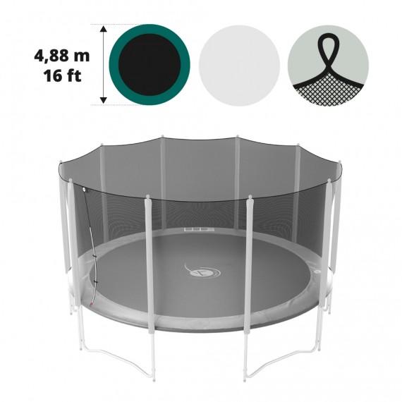 Filet textile pour trampoline Ø 488 avec sangles