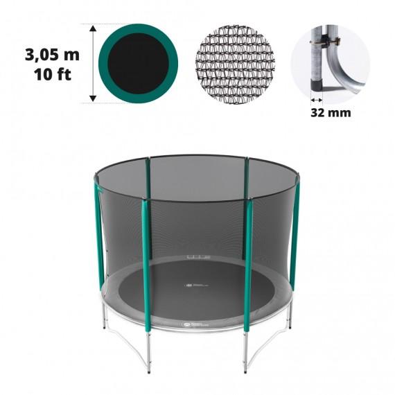 10ft trampoline net for 6 posts