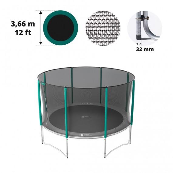 12ft trampoline net for 8 posts