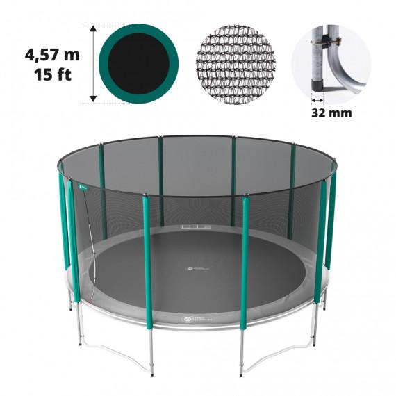 15ft trampoline net for 10 posts