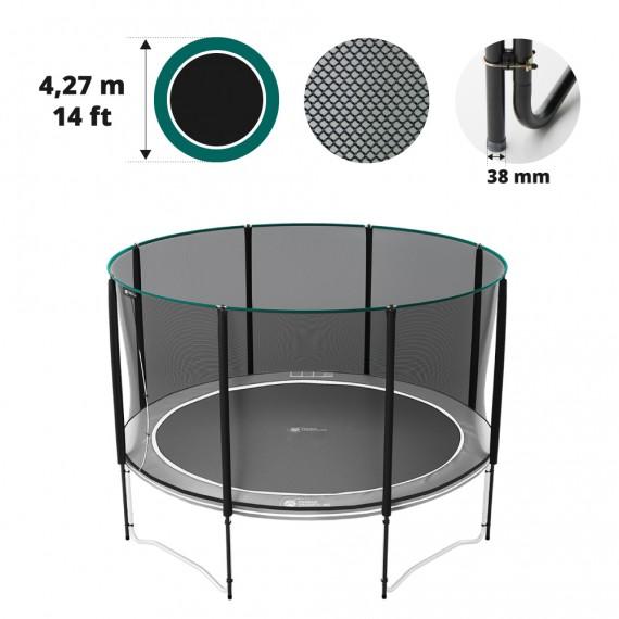 Filet premium avec 8 montants pour trampoline Ø 427