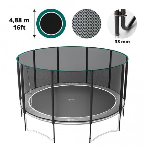 Filet premium avec 10 montants pour trampoline Ø 488