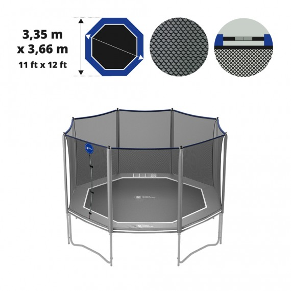 12ft Octopulse Premium trampoline net