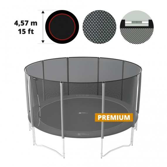 Premium safety net for 15ft./460 trampoline