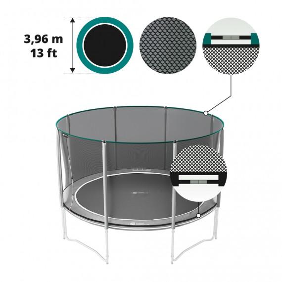 Premium 13ft black trampoline net for 390 trampoline