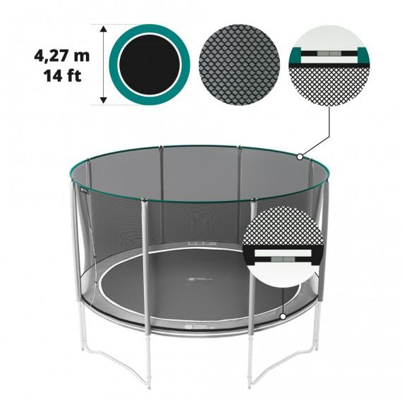 Premium black net for 14ft / 430 trampoline