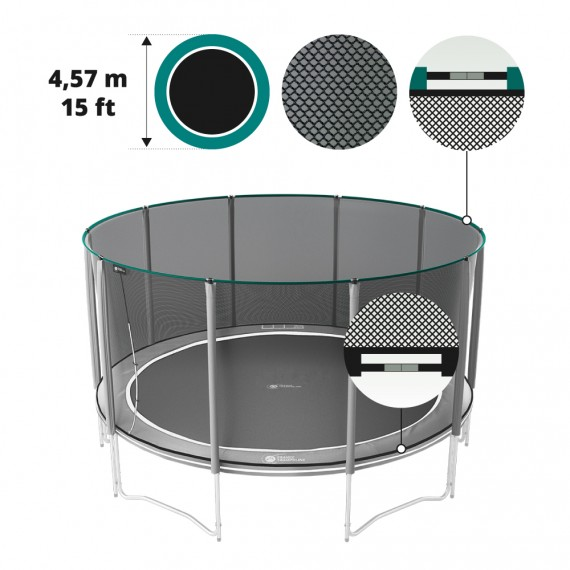 Premium safety net for 15ft./460 trampoline