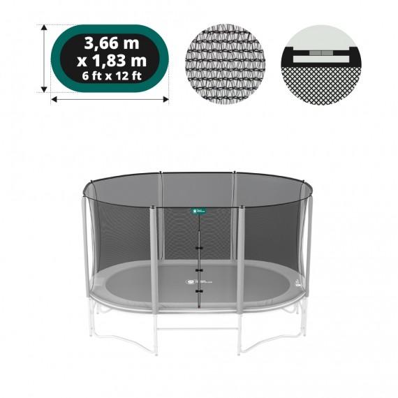 Filet textile premium pour trampoline Ovalie 360