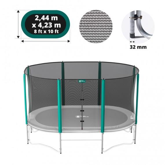 Filet avec 8 montants pour trampoline ovale Ø430
