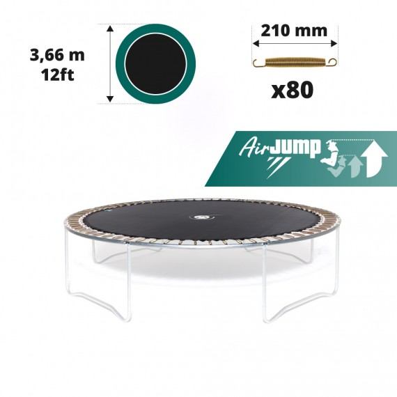 12ft trampoline jumping mat for 80 springs of 210 mm