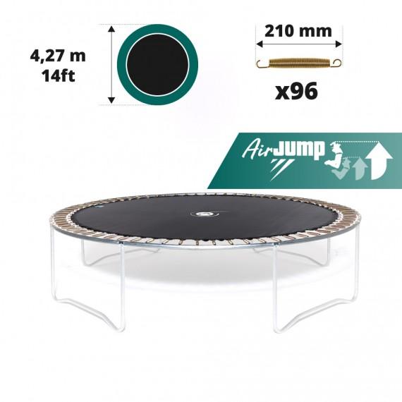 14ft trampoline jumping mat for 96 springs of 210 mm