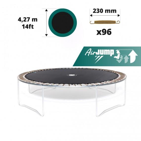 14ft trampoline jumping mat for 96 springs of 230 mm