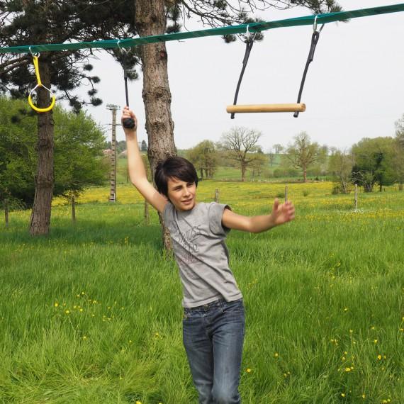 Ninja slackline rope ball