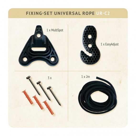Set de fixation pour chaise hamac Universal Rope