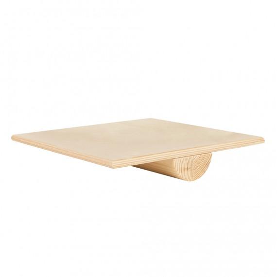Planche d'équilibre carré en bois