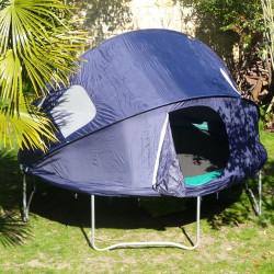 Fixation de la tente sur le trampoline