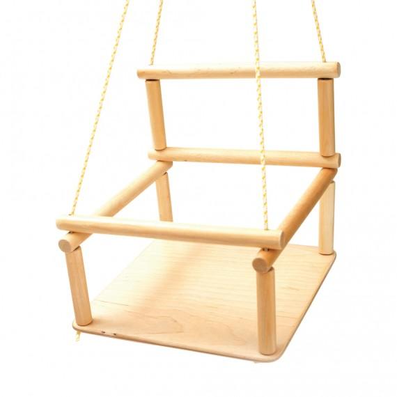 Balançoire en bois pour bébé pour triangle d'escalade