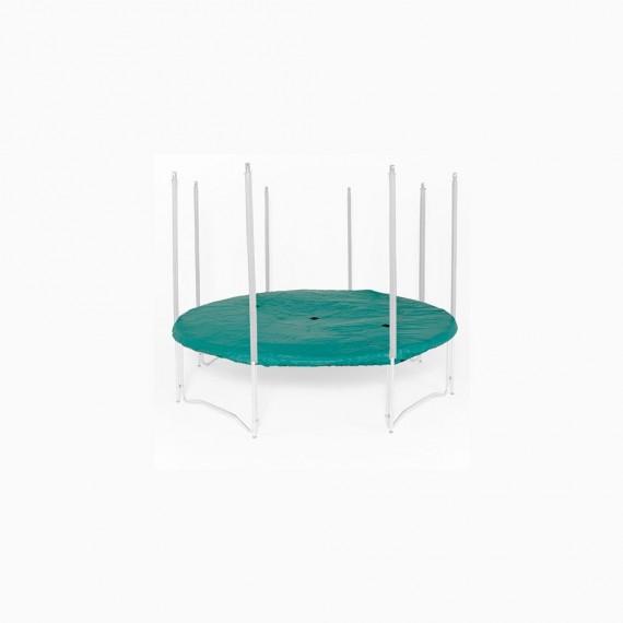 Bache trampoline 240 excellent kit entretoises for Trampoline piscine decathlon