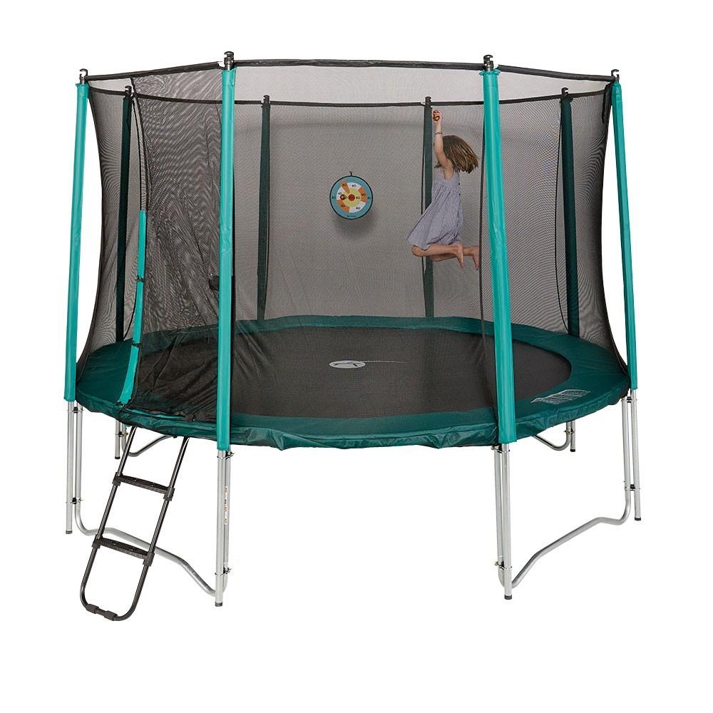trampoline booster 360 avec filet de protection. Black Bedroom Furniture Sets. Home Design Ideas