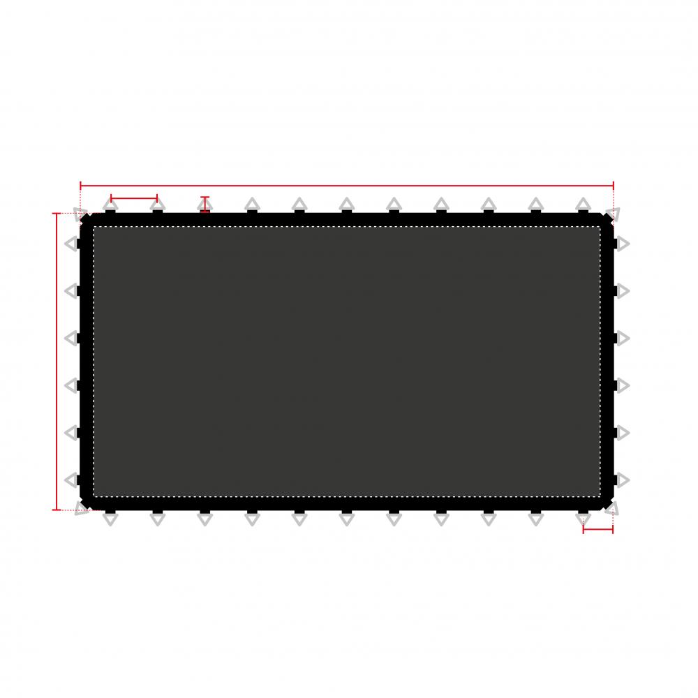 toiles de saut sur mesure pour trampolines professionnels. Black Bedroom Furniture Sets. Home Design Ideas