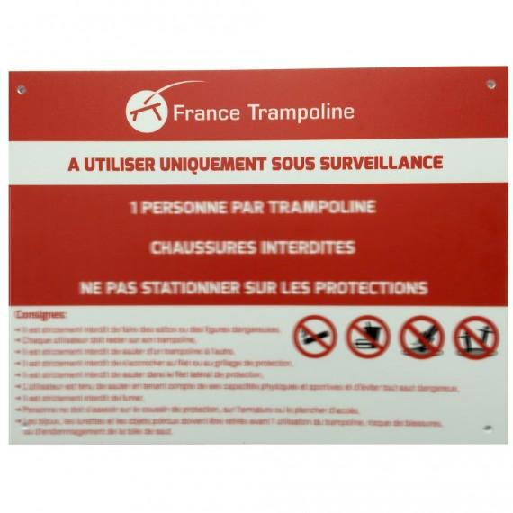 Panneau de sécurité pour batterie de trampolines