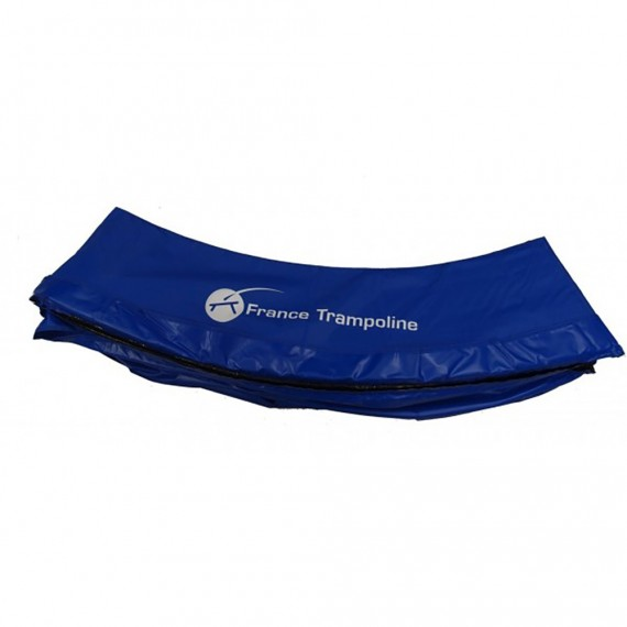 Coussin protection bleu pour trampoline rond