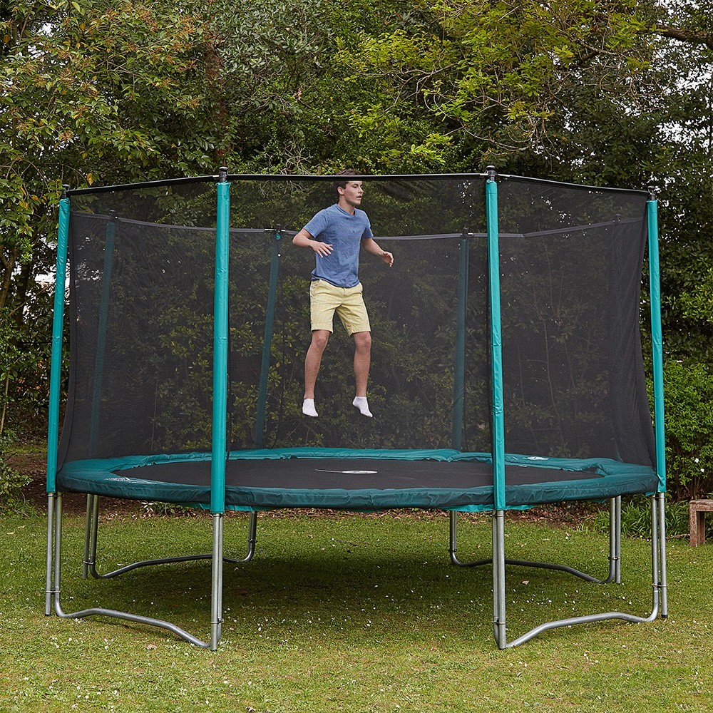 trampoline de loisirs booster 390 avec filet de protection. Black Bedroom Furniture Sets. Home Design Ideas