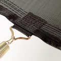 Rangs de couture et bande de renfort de la toile de saut