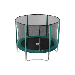10ft Booster 300 trampoline with safety enclosure and ladder