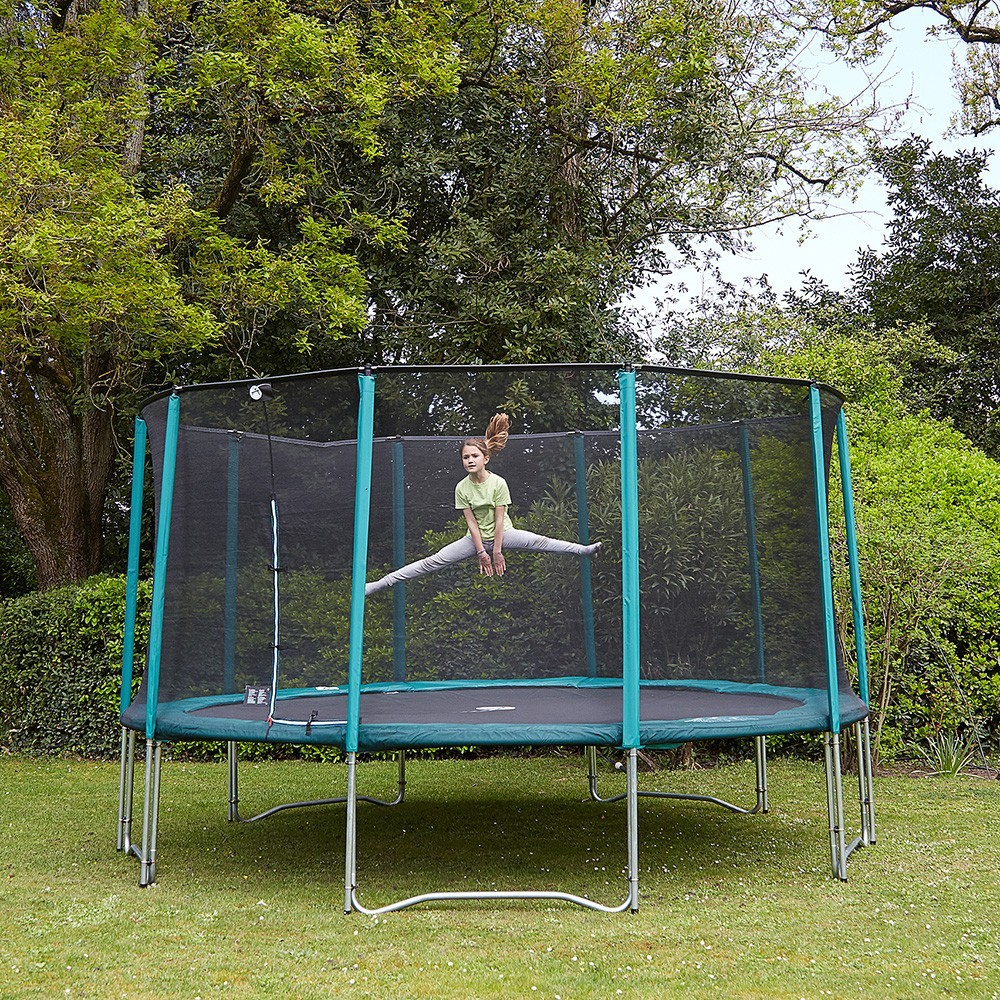 pack basic trampoline jump 39 up 430 avec filet chelle kit d 39 ancrage. Black Bedroom Furniture Sets. Home Design Ideas