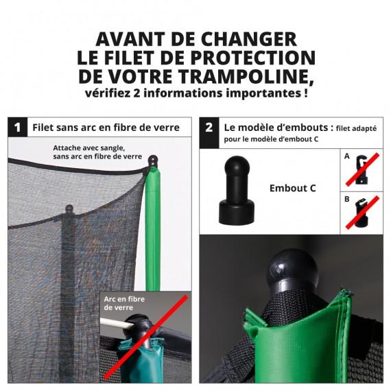 Filet textile avec sangles pour trampoline Apollo Sport 500