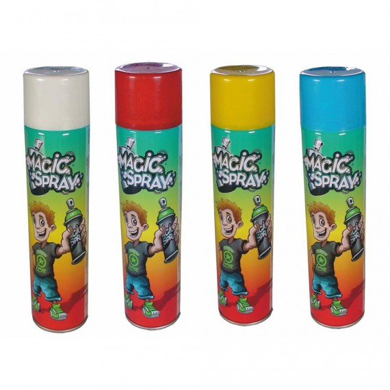 Lot de 4 sprays craies de couleurs
