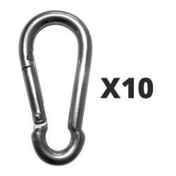 10 steel snap hooks